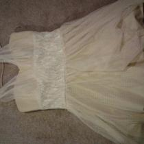 Creme and Lace Short Dress Photo