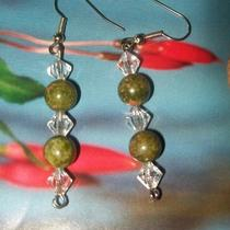 Crystal and Stone Bead Earrings Photo