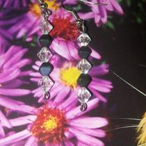 Crystal & Black Bead Earring Photo