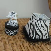 Cute Zebra trinket case and lamp shade Photo
