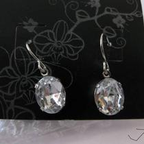 Cz .925 Sterling Silver Plated Earrings Photo