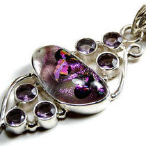 Dichroic Glass Sterling Silver Pendant  Photo