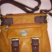 DOLCE & GABBANA brown and mustard brown messenger/crossbody handbag Photo