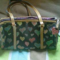 Dooney &ampamp Bourke Black Heart Barrel Bag Photo