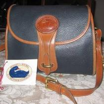 Dooney &ampamp Bourke Leather Shoulder Bag in Navy Blue  Photo