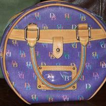 Dooney Bourke Guaranteed Authentic Purple Multi Color Db on Canvas Photo