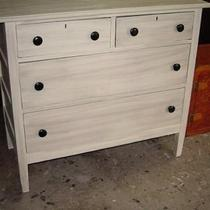 DRESSER ANTIQUE GLAZED 5 DRAWERS OAK Photo