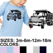 Dump Truck American Apparel Infant Baby Rib Long Sleeve Lap T-Shirt (4007) Photo