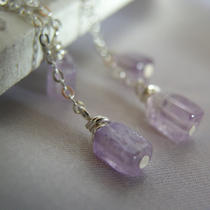 Earrings Amethyst and Sterling Silver Photo