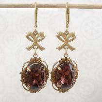 Earrings - Amethyst Purple Crystal Framed With a Bow Photo