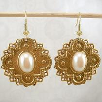 Earrings - Renaissance Filigree With Pearl Photo
