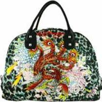 Ed Hardy Isabelle Animal Print Carry on Bag Photo