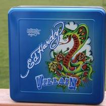 Ed Hardy Villian Men's Blue Collector Tin Only Photo