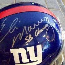 ELI MANNING SIGNED FULL SIZE HELMET SB CHAMPS INSCRIPTIONS JSA COA Photo