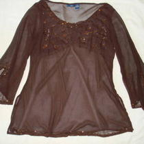 Eveningplus1x2x3xsequins Pinkdark Browntopblouse Photo