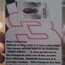 EXTREMELY RARE!!! Dale Earnhardt FIRST PRINT 24 CENT POSTAGE STAMP! ONLY 33 PRODUCED!!! Photo