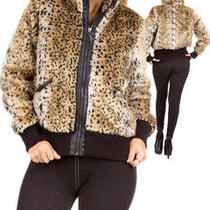 Faux Fur Animal Print Jacket 6pcs Nwt Photo