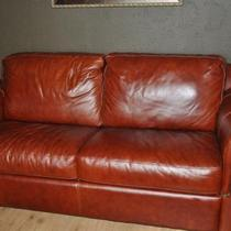 Fine Italian Leather Double Bed Sleeper Sofa Photo