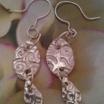 Fine Silver Dangling Earrings Photo