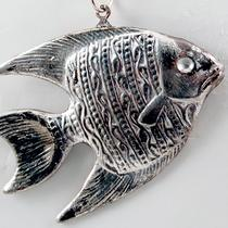 Fine Silver Plated Angelfish Pendant Photo