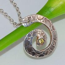 Fine Silver  Spiral Shaped Pendant Necklace Photo