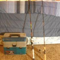 Fishing poles and tackle Photo