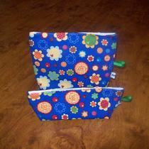 Flowers Love and Ladybugs Reusable Snack and Sandwich Bag Set Photo