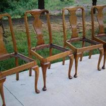 Four Burl, Birds Eye, Rock Maple, Queen Anne Chairs  Photo