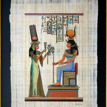 Framed Egyptian Papyrus painting - Nefertari Photo
