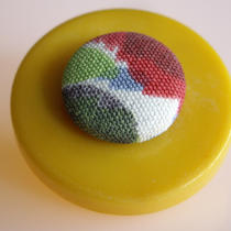 Free Shipping Button Brooch - Mustard Photo