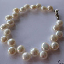 Freshwater Pearl 14 Kt White Gold Plated Bracelet Photo