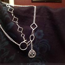 Frosted Silver Necklace &ampamp Bracelet Photo
