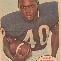 GALE SAYERS CHICAGO BEARS RUNNING BACK 1968 TOPPS POSTER #8of16  Photo