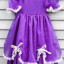 Girl Size 4/5 Flower Girl Dress Purple and Silver. Photo