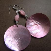 Girly Girl Pearl and Shell Dangle Earrings Photo