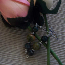 Glass Bead Dangle Earrings Photo