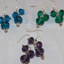 Glass Crystal Earrings Photo
