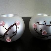 Glass Tealight holders - set of 2  Photo