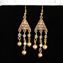 Gold Pearl Earrings Photo