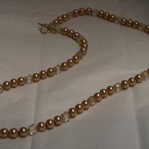 Golden Pearls and Clear Cathedrals Necklace Photo