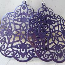 Grape Luxe (Handmade Filigree Statement Earrings) Photo