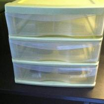 Green Plastic Draw Bin Photo