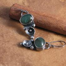 Greenishness-  Green Aventurine and Sterling Earrings Photo