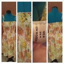 h&ampampm Cute Floral Summer Dress Size 4 Mini Maxi Photo