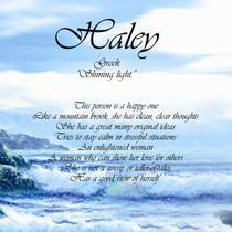 """HALEY"" Keepsake Beach Waves Print Photo"