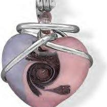 Handmade Pink and Purple Italian Murano Glass Heart Pendant Photo
