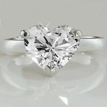 Heart Shape 1.50ct G/vs2 Diamond Ring Photo