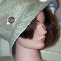 Hey Jute Ladies Burlap Hat Lined Photo