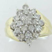 I-169  14k Yellow and White Gold Ladies Waterfall Diamond Ring  Photo