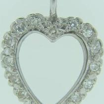 I-1891  14k White Gold Diamond Heart  Photo
